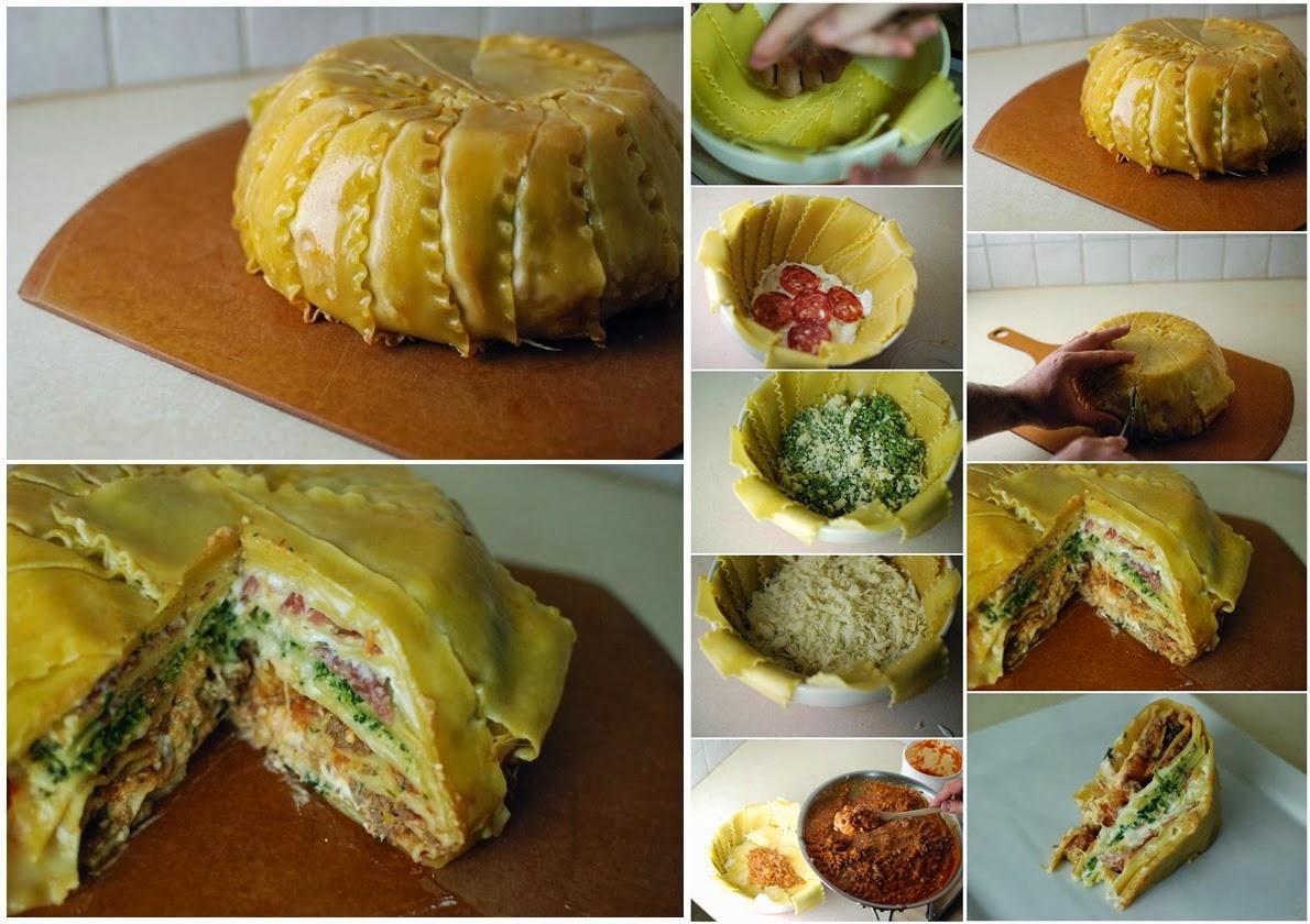 DIY Flavored Lasagna Timpano