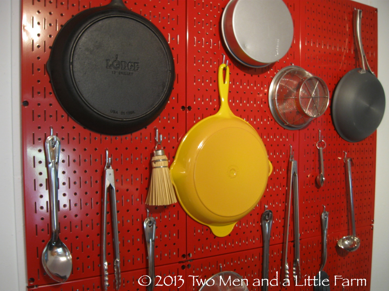 Pegboard Kitchen Two Men And A Little Farm Our Julia Child Pegboard Wall