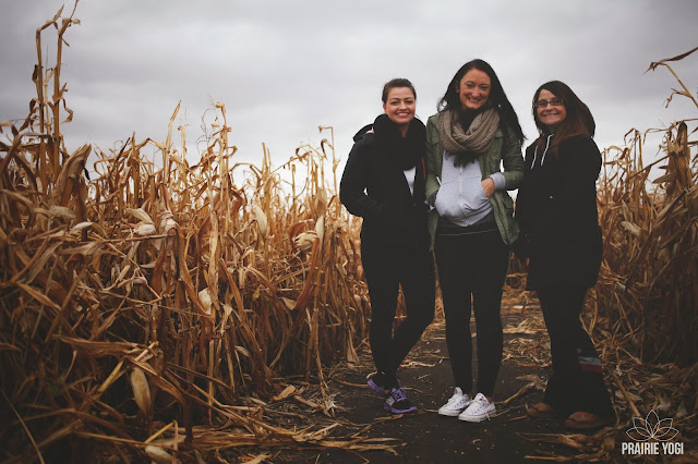 Heart of gold, liane charrett, Prairie Yogi events, Yoga Scavenger Hunt, Prairie Yogi Winners, Pantel Photography, Rachelle Taylor, corn maze, babes, beauties, corn maze fun, Monique Pantel, Family Fun, Farm Yoga, Barn Yoga,