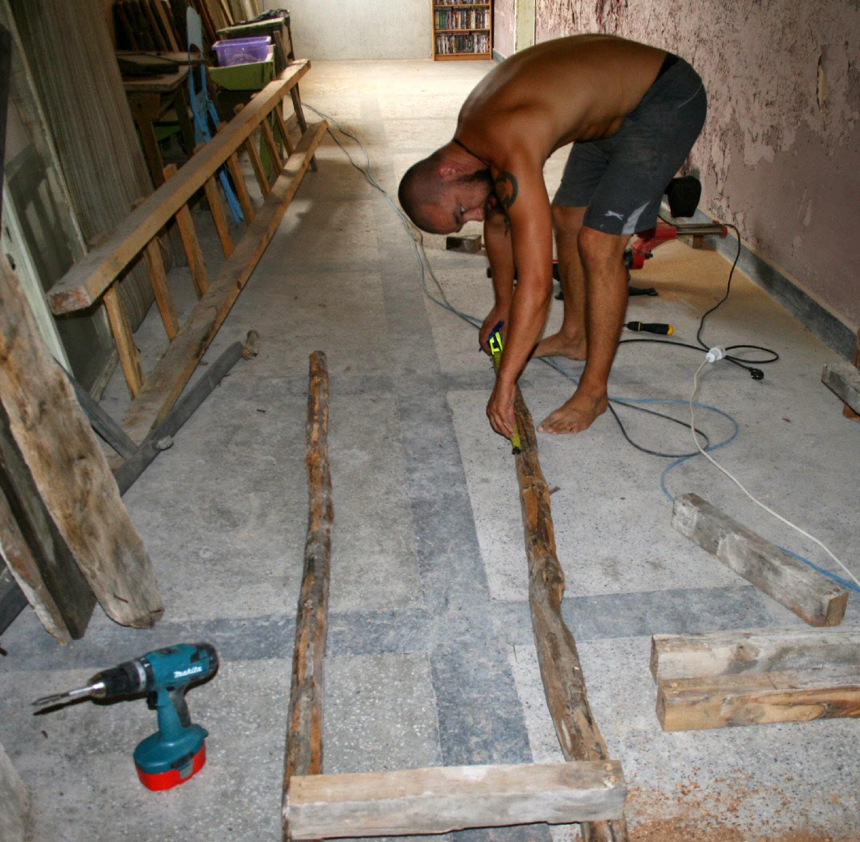 Man at measuring