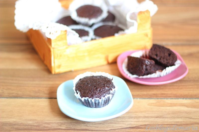 Magdalenas de Chocolate y Bizcocho de Limon