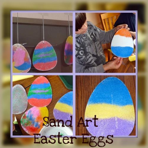 Sand Art Easter Eggs