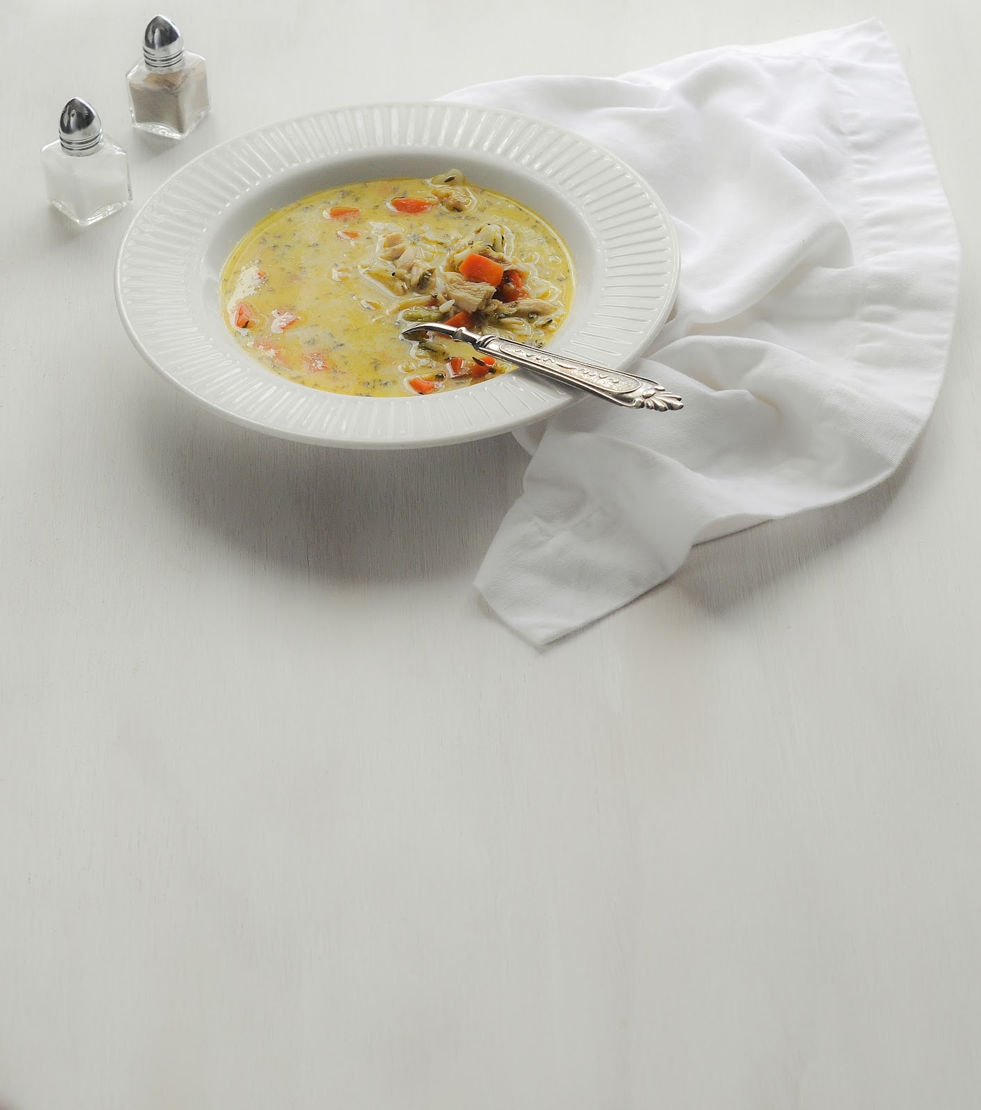 Dish Soup: Lemon Chicken Rice Soup with Braided Sesame Bread