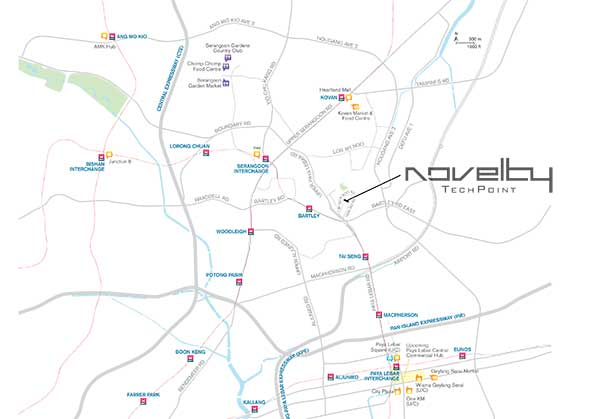 Novelty Techpoint Location Map