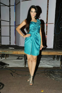 Actress Deeksha Panth  Picture Gallery in Silk Short Dress at Billa Ranga Audio Launch  0065.jpg