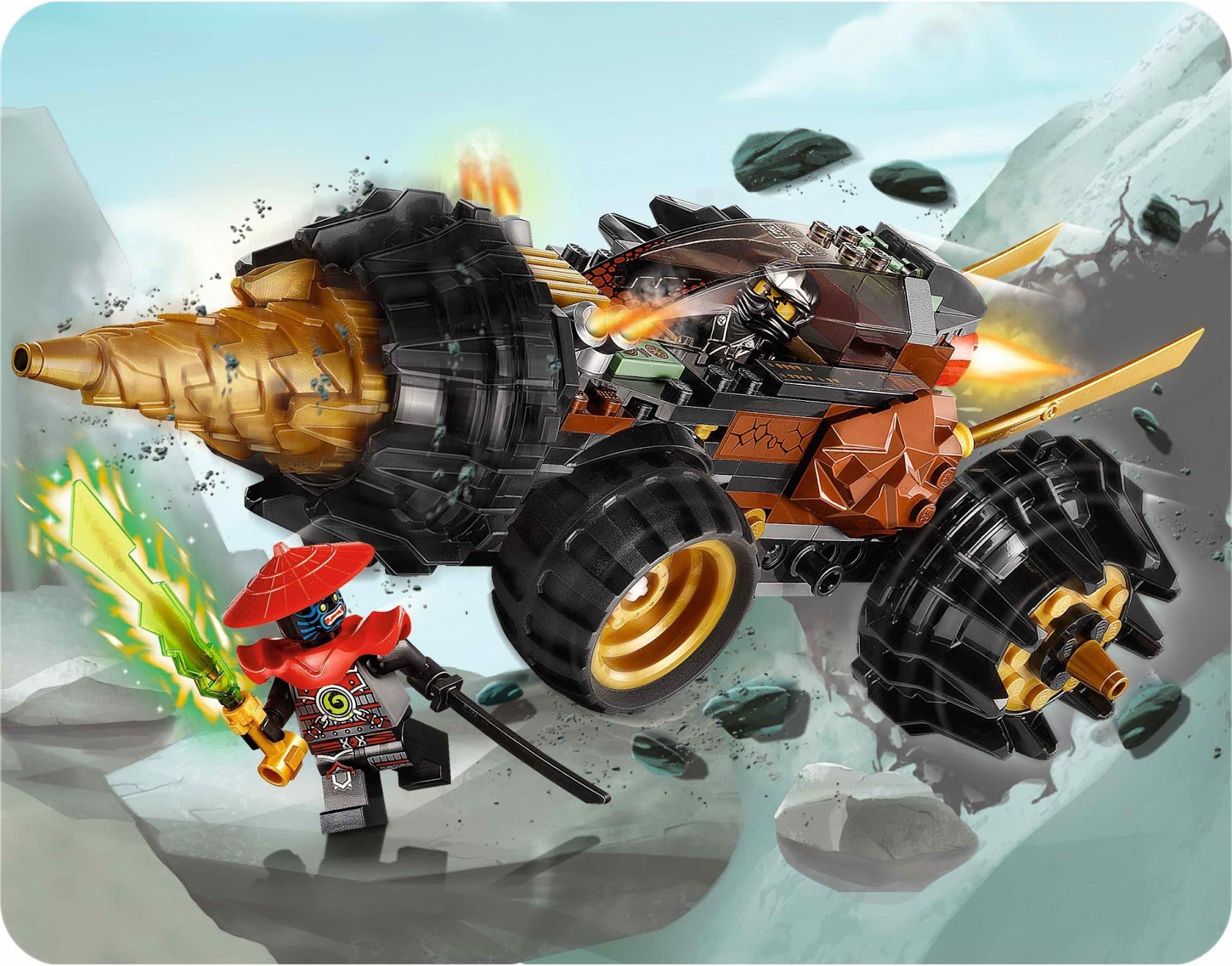 REPUBbLICk: set database: LEGO 70502 cole's earth driller