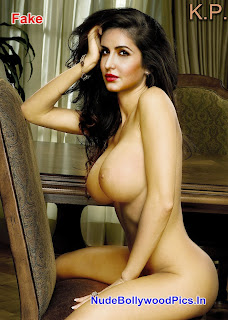 Katrina Kaif Nude Possing her Boobs & Ass on Couch Fake