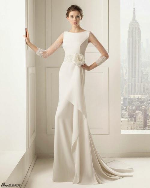 BST váy cưới của Rosa Clara 2015 cho cô dâu vai thon
