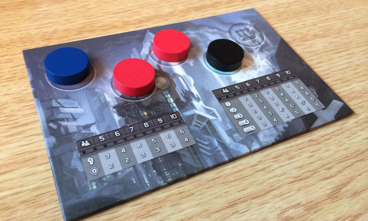 The Resistance board game review score tracker