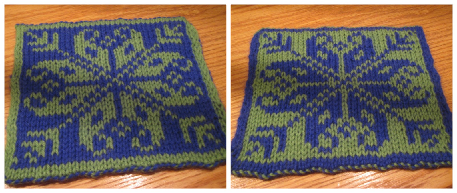 The Spicy Knitter: FO: The Prettiest Hot Pad Ever