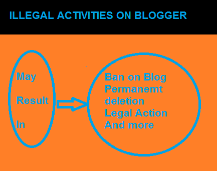 Illegal Activities on Blogger to Avoid or face Blog suspension deletion or a permanent ban