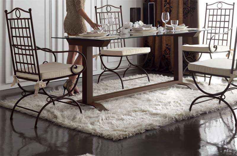 Muebles de forja mesas de comedor en forja - Mesa de forja ...