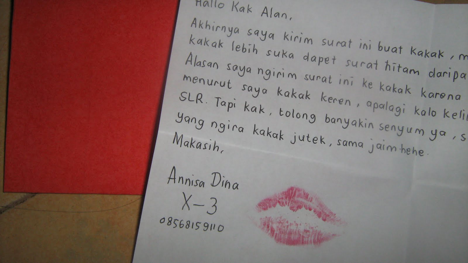 14++ Contoh surat cinta untuk kakak senior terbaru terbaru