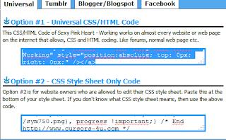 Cara Membuat Variasi Kursor di Blogspot