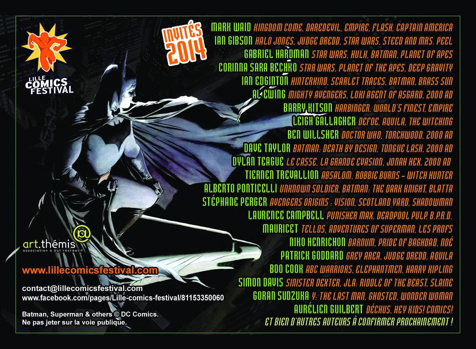 8ème Lille Comics Festival : 6 et 7 décembre 2014 10557367_10154533279115061_1482419211073320643_n
