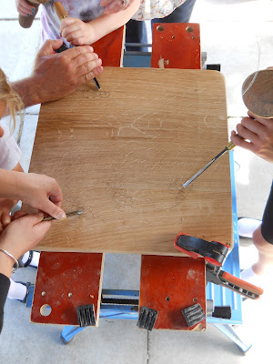 woodcarving tuition at school