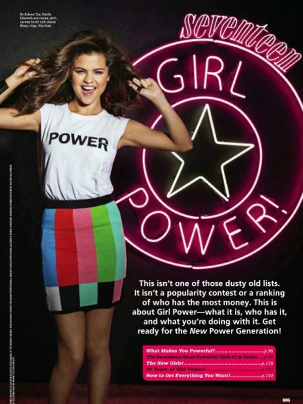 Selena Gómez en Seventeen Magazine