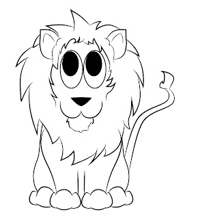 how to draw a lions ears