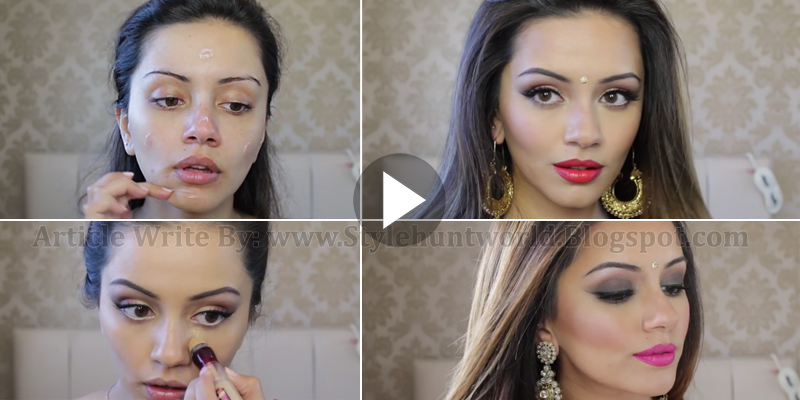 Different Types Of Bridal Makeup : Indian Wedding and Reception Day to Night Makeup Tutorial ...