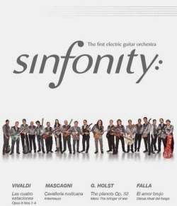 Concierto de la orquesta de guitarras eléctricas Sinfonity en Bilbao en diciembre