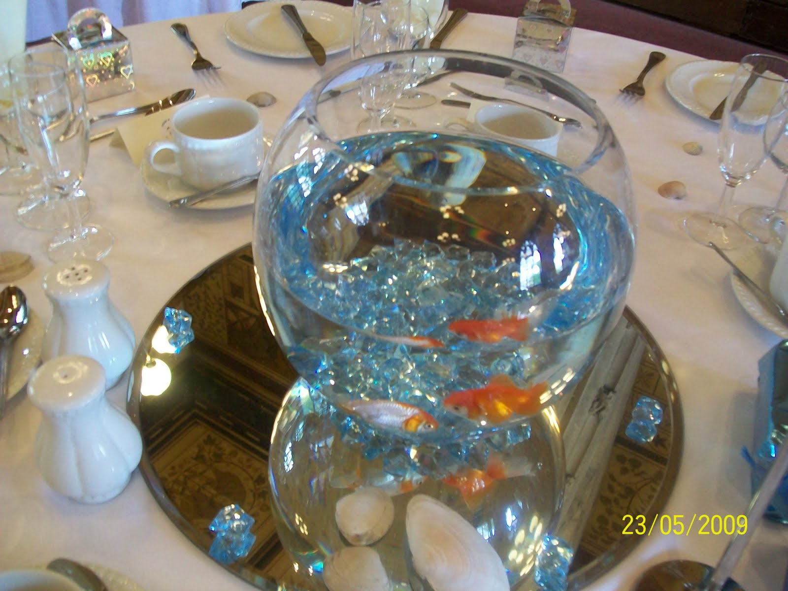 Dana markos events event design and floral styling crazy for Fish bowl centerpieces ideas