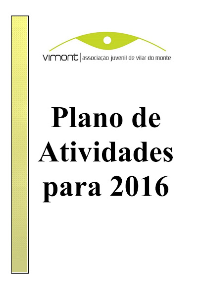 ● Plano de Atividades para 2016