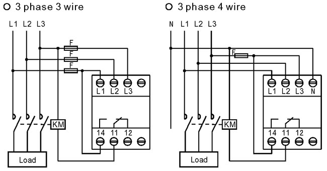 3 phase 3 wire wiring diagram