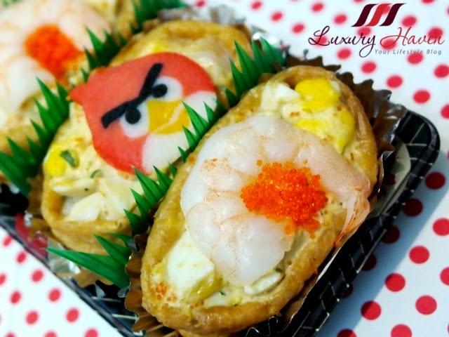 angry birds japanese inari age bento recipe