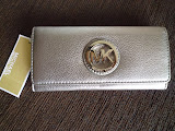 MICHAEL KORS FULTON CONTINENTAL WALLET GUNMETAL
