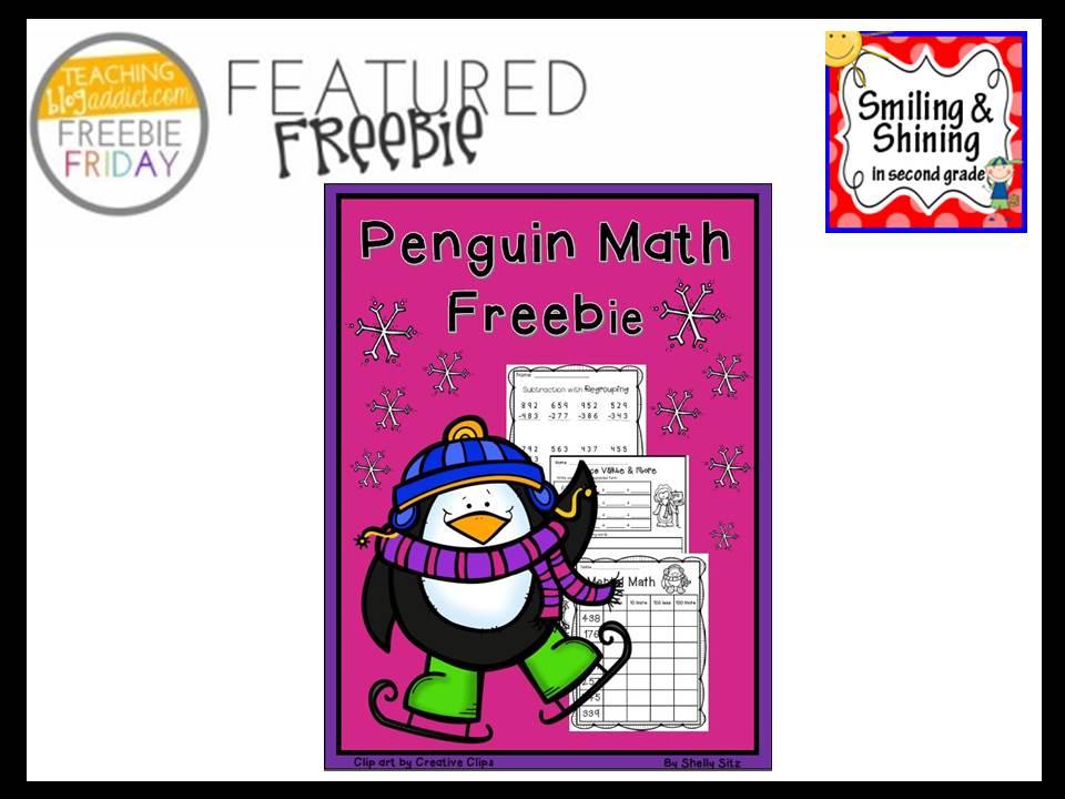 http://smilingandshininginsecondgrade.blogspot.com/2014/12/penguin-math-freebie.html