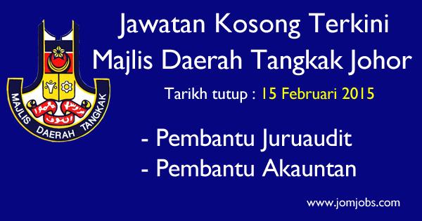 Jawatan Kosong Majlis Daerah Tangkak Johor 2015 Terkini