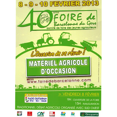 40ème Foire de Barcelonne du Gers Matériel agricole d'occasion exclusivement !