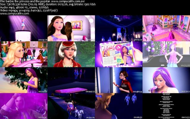 Barbie La Princesa Y La Estrella Pop DVDRip Español Latino 2012