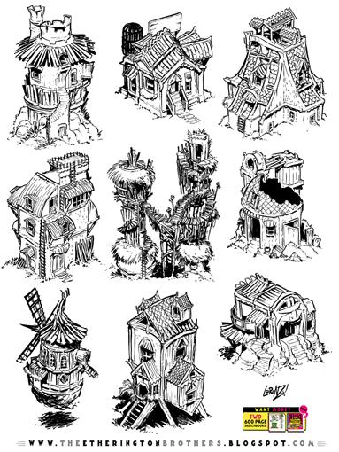 http://studioblinktwice.deviantart.com/art/9-RPG-building-concepts-574034646