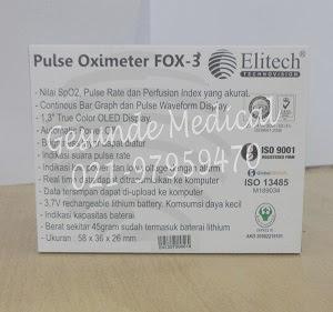 spesifikasi oxymeter elitech fox 3 spek