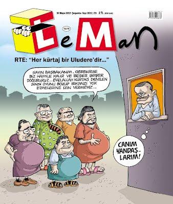 """Leman Dergisi """"Her Kürtaj Uludere'dir"""" Kapağı"""