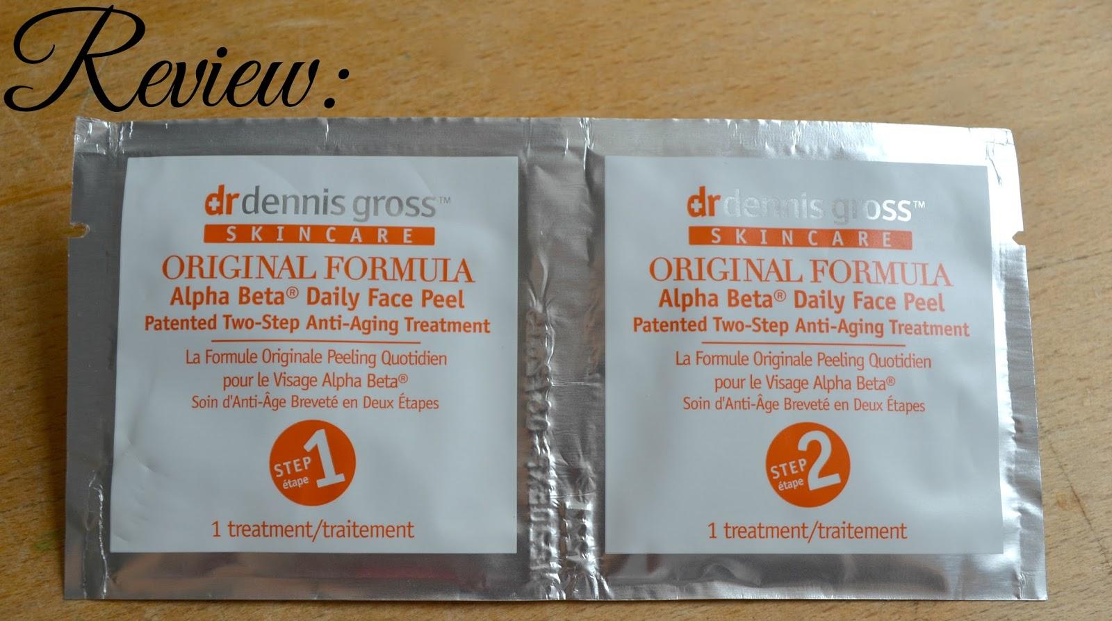 Beauty Review: Dr Dennis Gross Alpha Beta Daily Face Peel