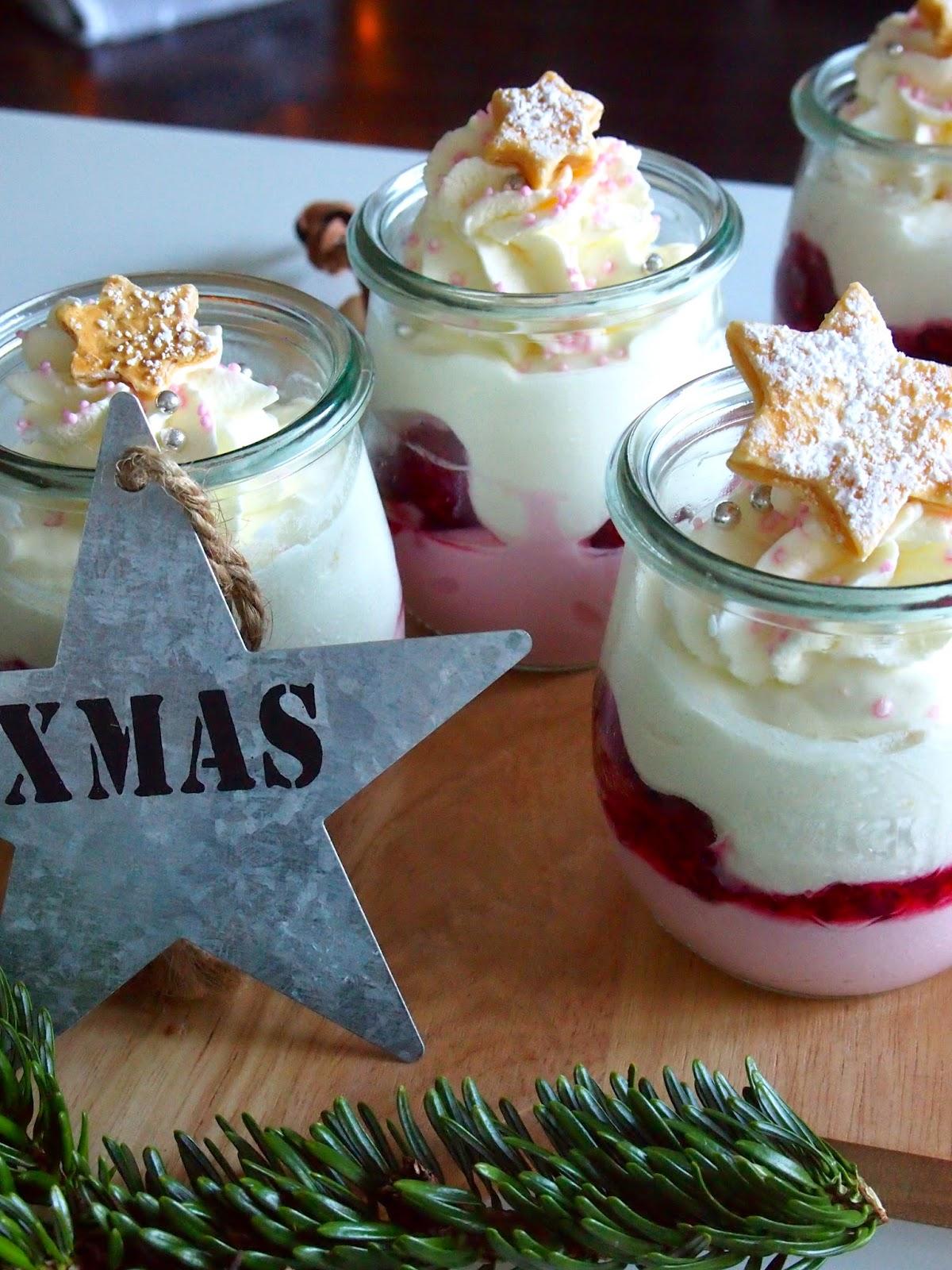 Diezuckerbackerei Himbeer Mascarpone Dessert Zu Weihnachten