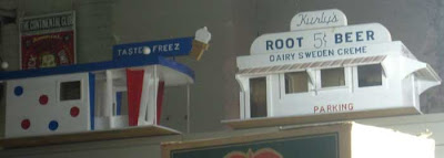 White rootbeer stand building