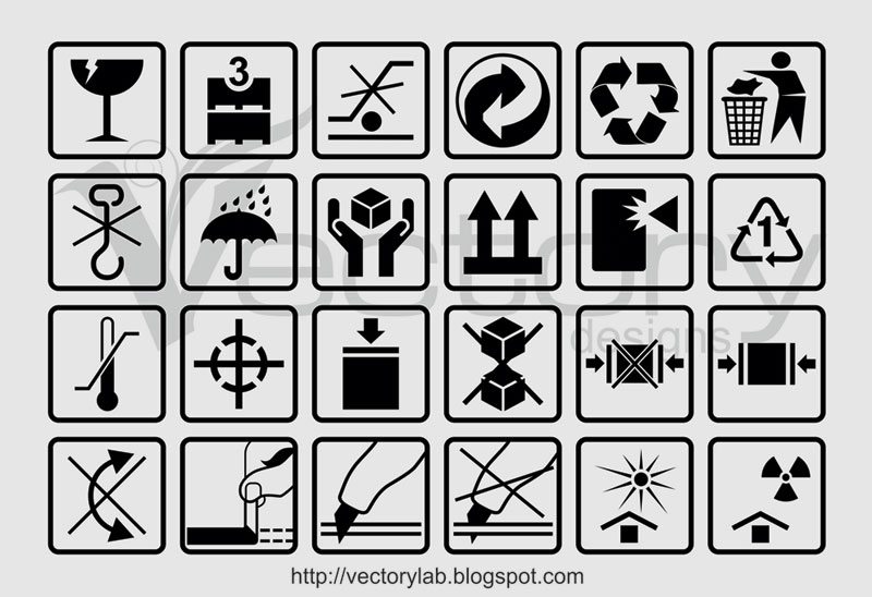 ... Packaging Box Symbols | Vectorylab - Free Vector Illustration Design