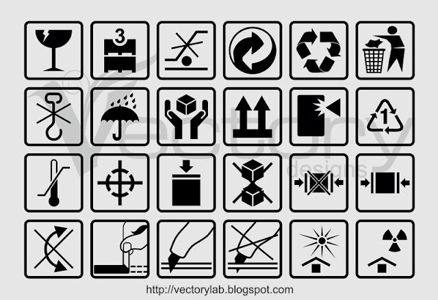 24 Free Vector Packaging Box Symbols