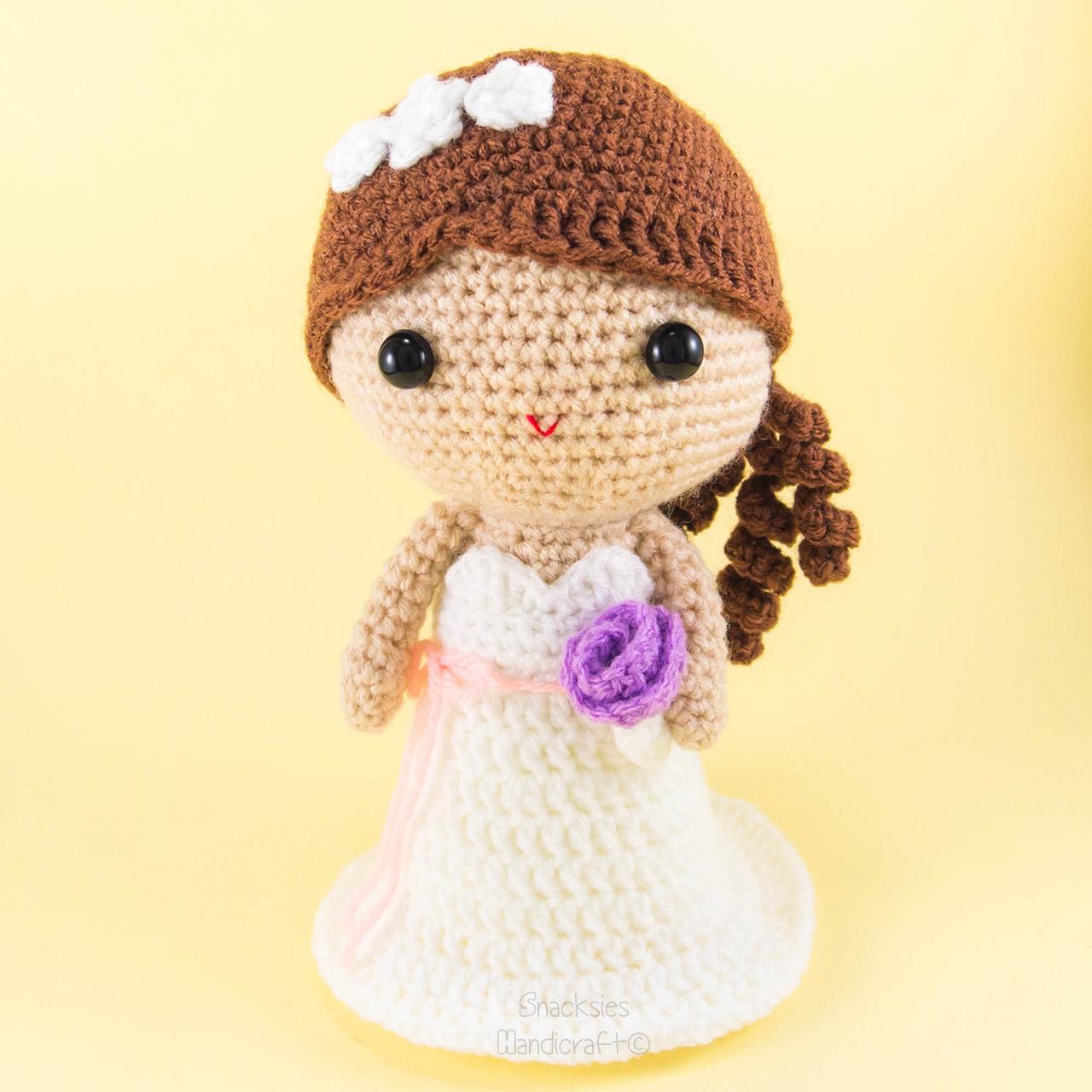 Crochet Pattern Amigurumi Dragon : Bride Amigurumi Crochet ~ Snacksies Handicraft Corner