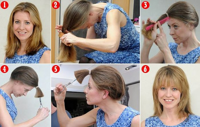 بالصور قص الشعر في ثلاث خطوات اسهل طريقة لتقصي شعرك بنفسك في المنزل