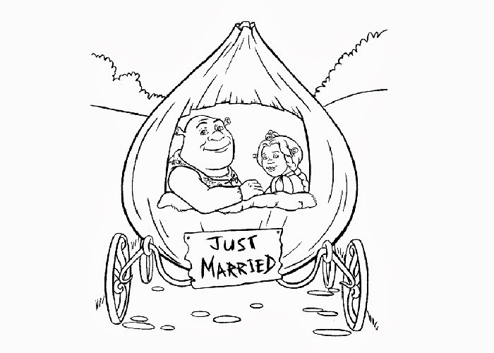 just married coloring pages - photo#15