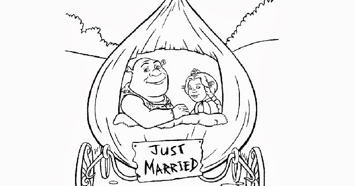 Shrek just married coloring pages Free Coloring Pages and