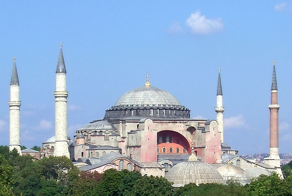 the church of hagia sofia istanbul Building big databank entry on hagia sophia  location: istanbul, turkey   with a force of 10,000 workers, the dome atop the church of hagia sophia was  built.