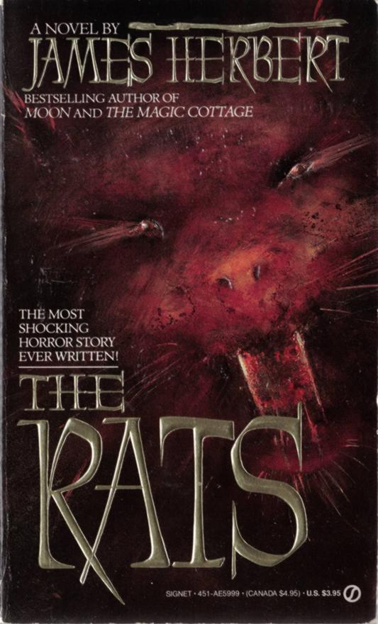 1980 THE DARK PAPERBACK BOOK ~ EVIL, TERROR, RIOT BY JAMES HERBERT