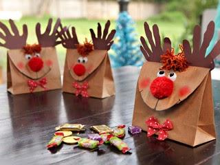 Renos de Navidad con Materiales Reciclados