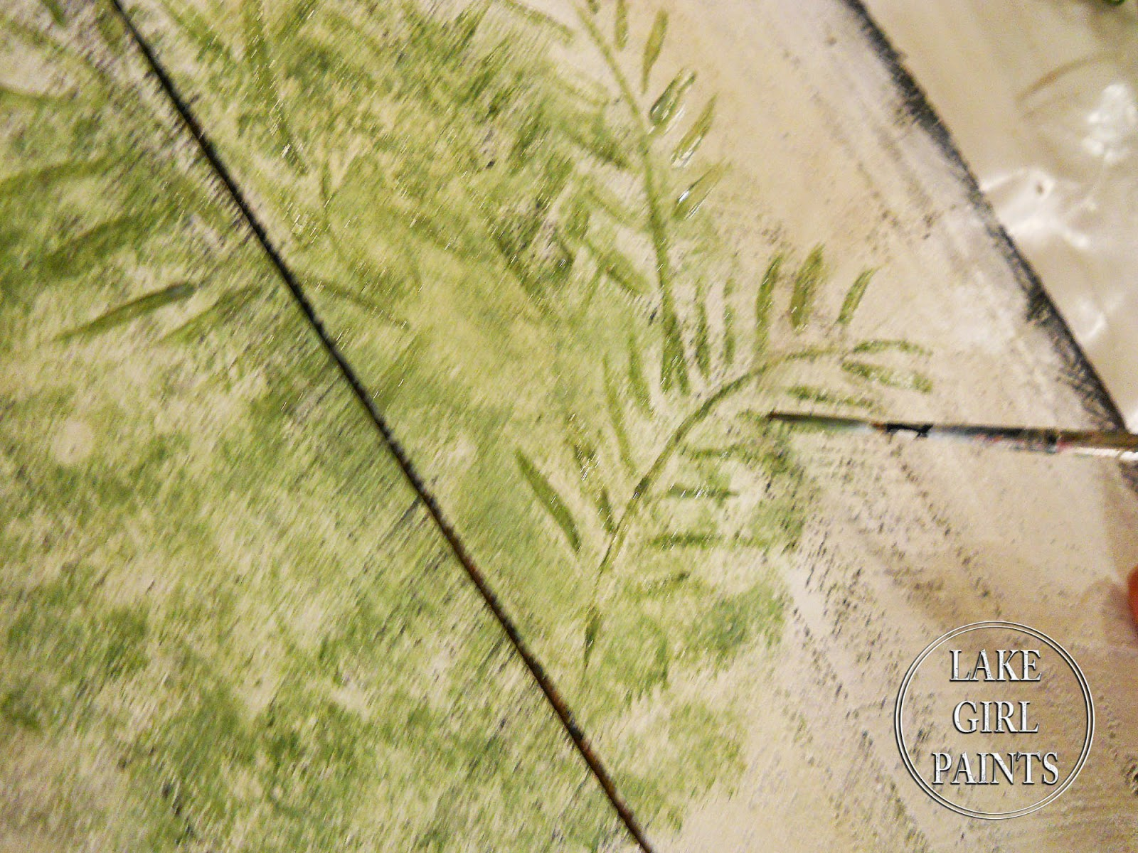 Lake Girl Paints: Topiary Garden Art on Rustic Boards
