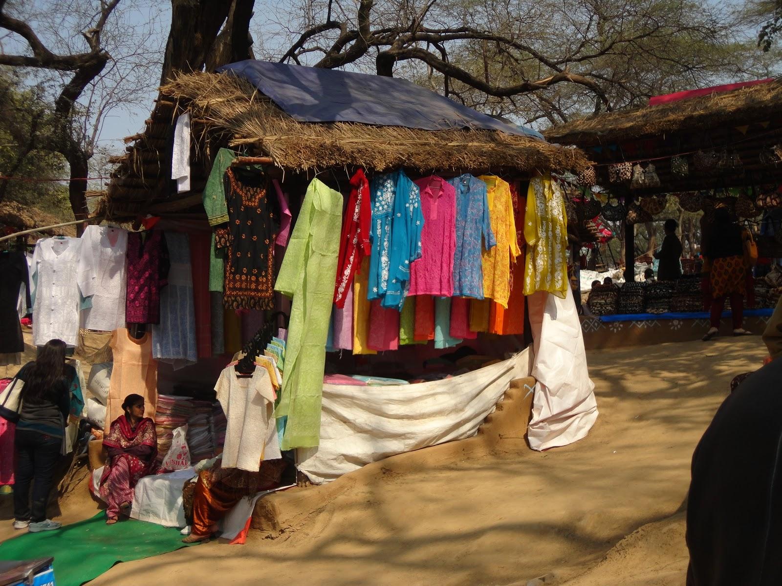 Printed and Embroidered tunics at Surajkund Crafts Mela,India
